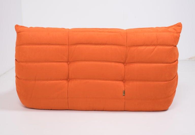 Midcentury Togo Orange Sofa by Michel Ducaroy for Ligne Roset For Sale 3