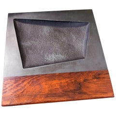 Midcentury Tray, Slate and Rosewood by Harpswell House with Paul Evans Influence