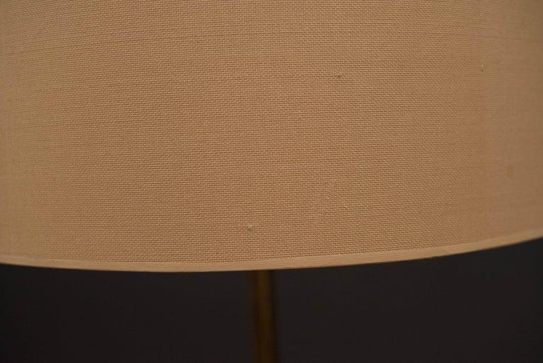 Mid Century Tripod Brass Floor Lamp 6