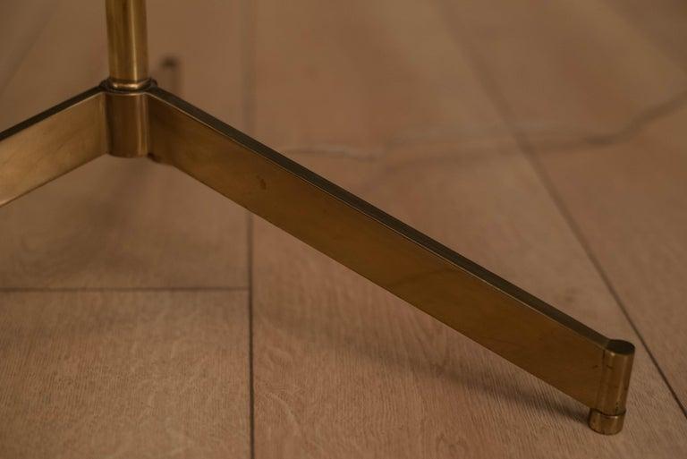 Mid Century Tripod Brass Floor Lamp 9