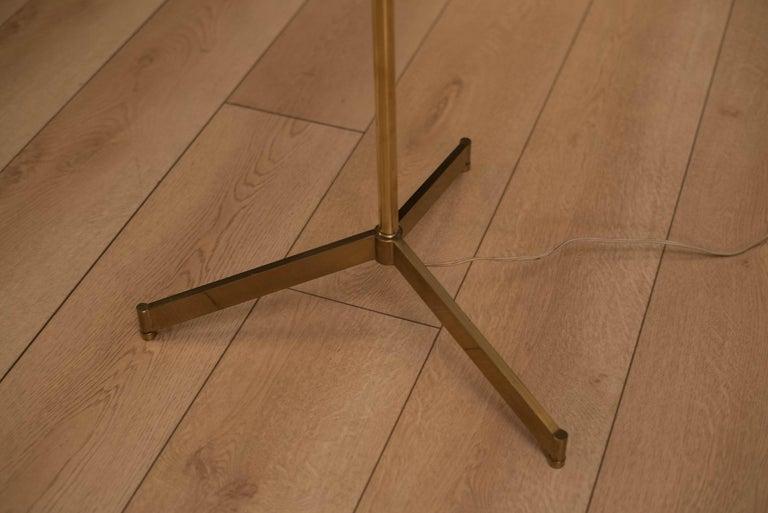 Mid-20th Century Mid Century Tripod Brass Floor Lamp