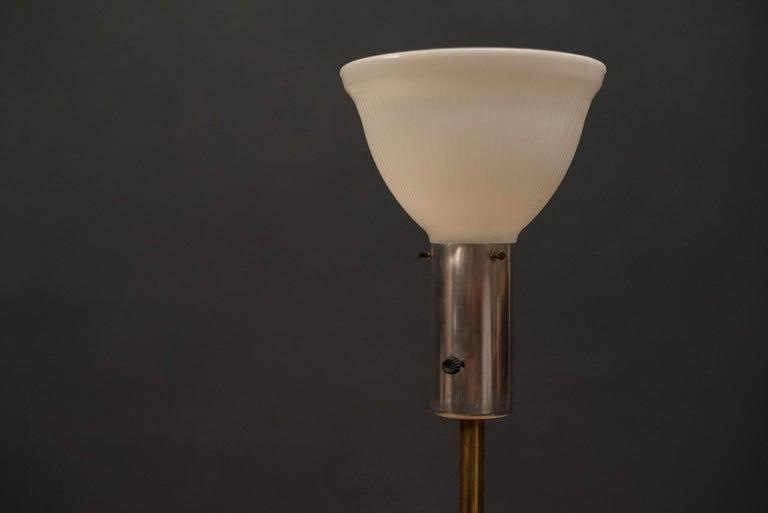 Mid Century Tripod Brass Floor Lamp 3