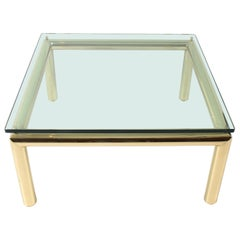 Midcentury Tubular Brass Coffee Table