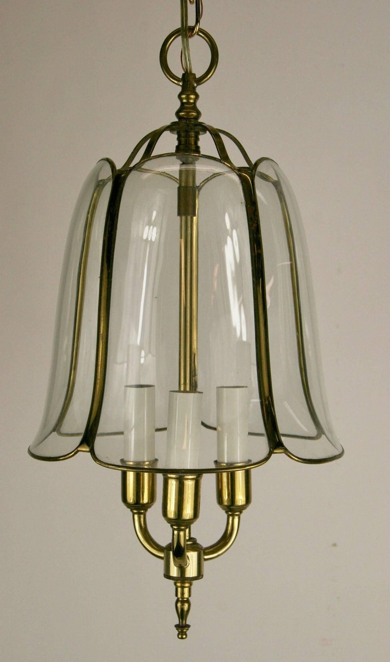 1-4025 Tulip three-light pendant Takes 60 watt candelabra based bulb Supplied with 2 feet chain and canopy.