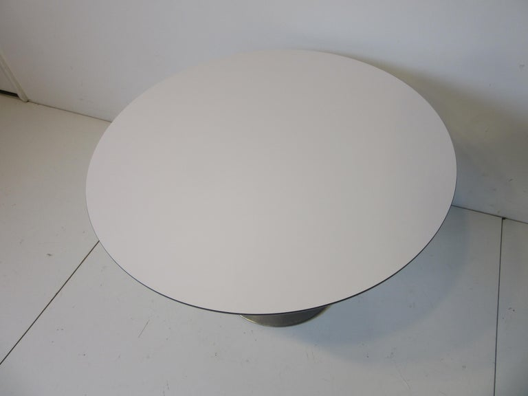 American Mid Century Tulip Side / Lamp Table by Burke For Sale