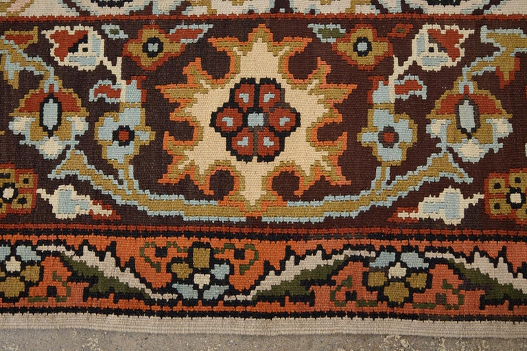 Midcentury Turkish Floral Thracian Kilim For Sale 3