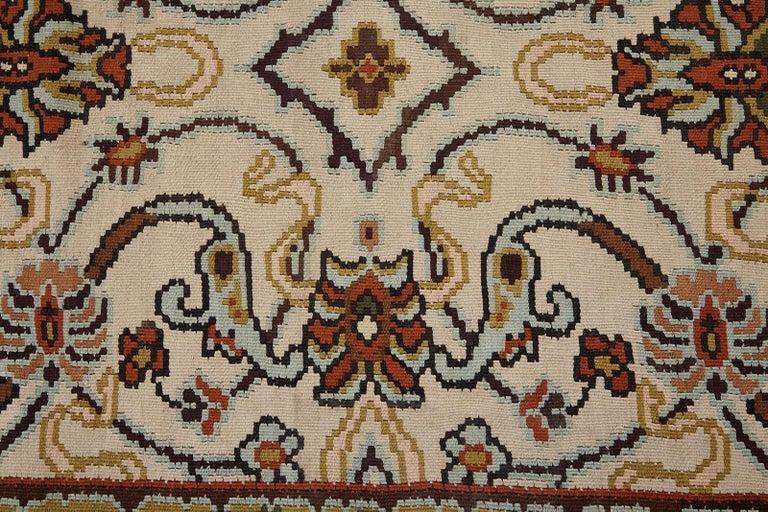Midcentury Turkish Floral Thracian Kilim For Sale 4