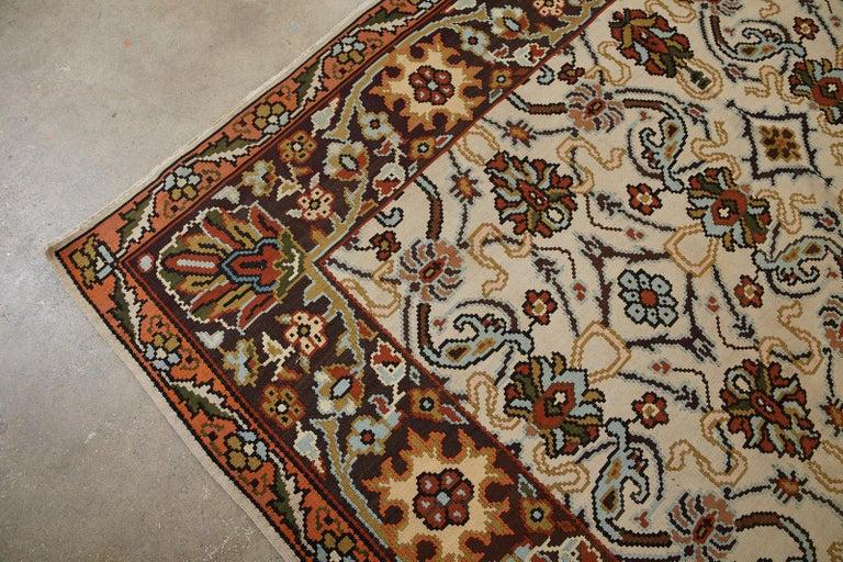 Midcentury Turkish Floral Thracian Kilim For Sale 5