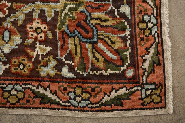 Midcentury Turkish Floral Thracian Kilim For Sale 7