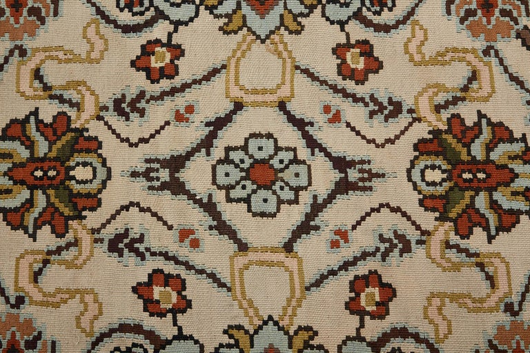 Midcentury Turkish Floral Thracian Kilim For Sale 9