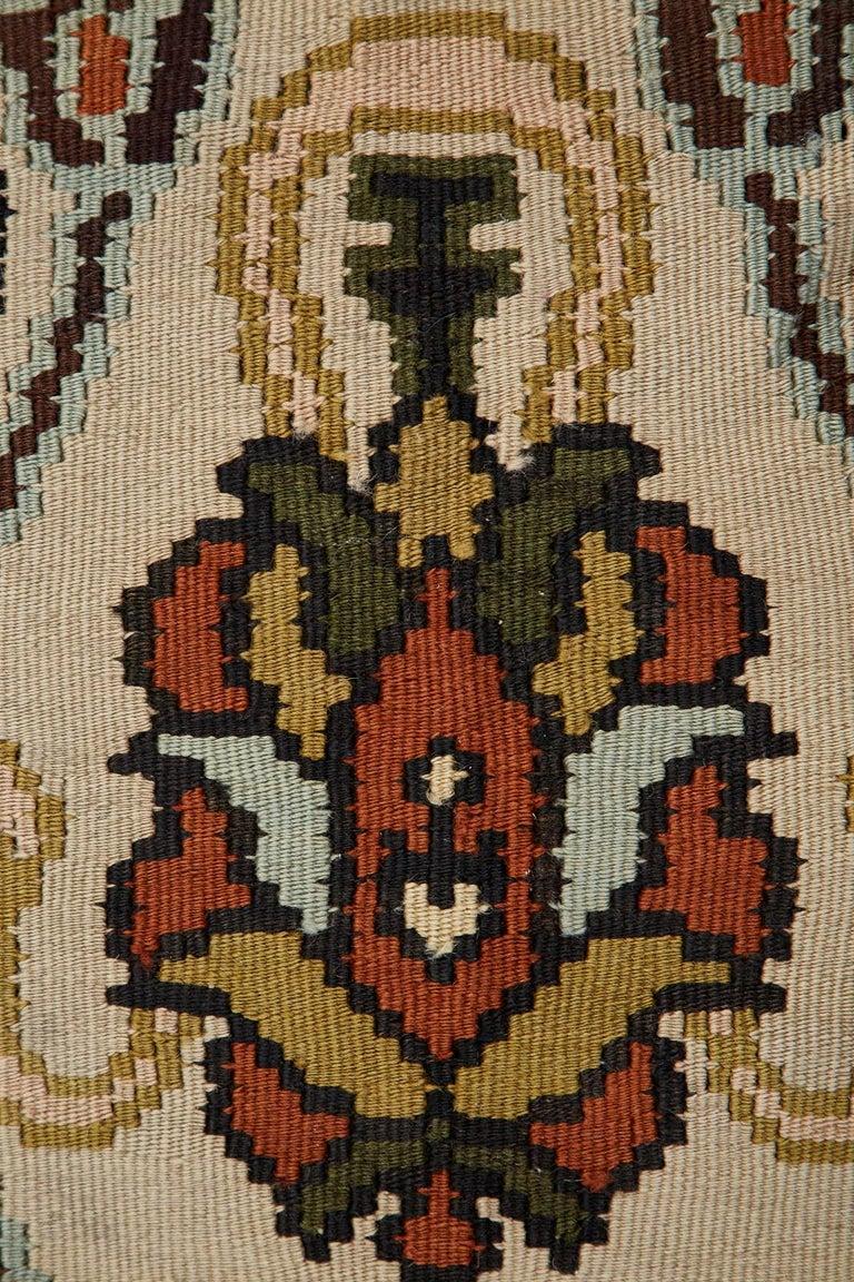 Midcentury Turkish Floral Thracian Kilim For Sale 10