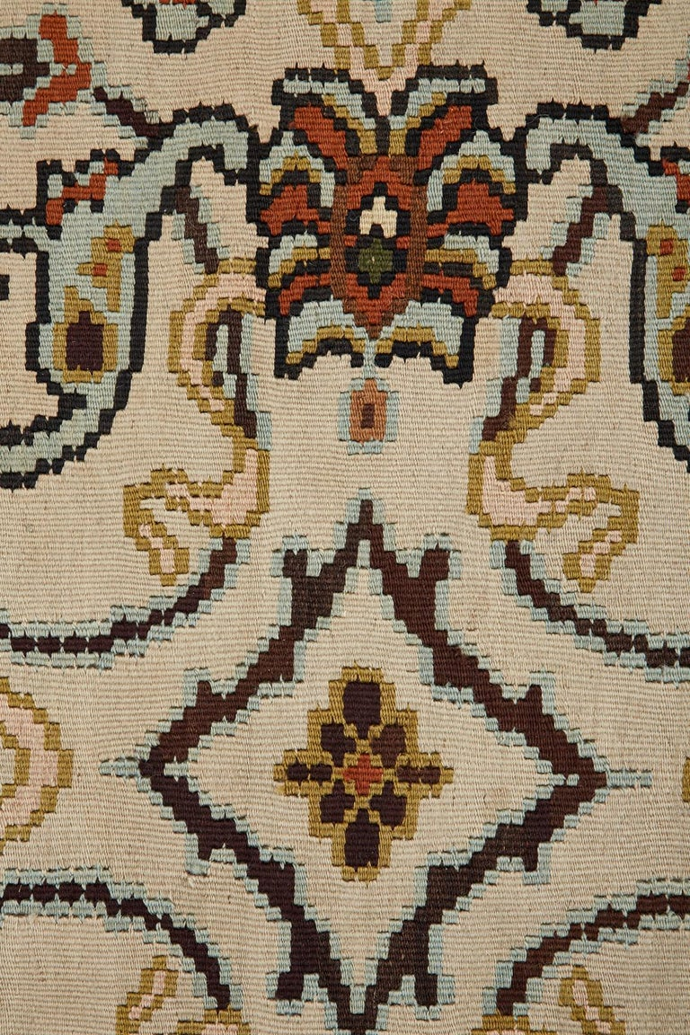 Midcentury Turkish Floral Thracian Kilim For Sale 11