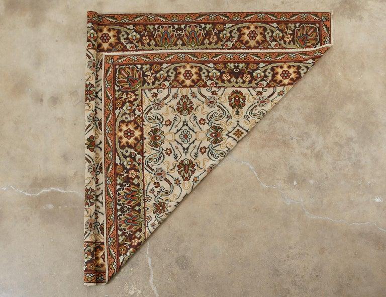 Midcentury Turkish Floral Thracian Kilim For Sale 13