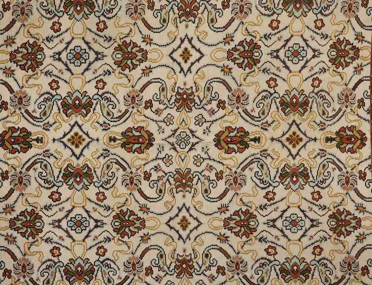 Hand-Woven Midcentury Turkish Floral Thracian Kilim For Sale