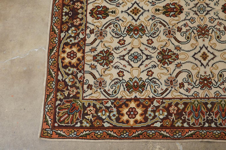 20th Century Midcentury Turkish Floral Thracian Kilim For Sale
