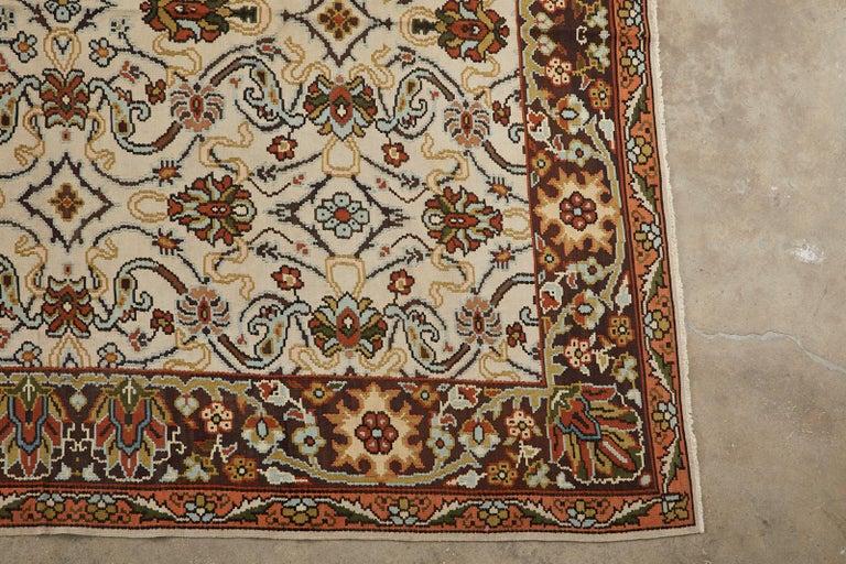 Wool Midcentury Turkish Floral Thracian Kilim For Sale