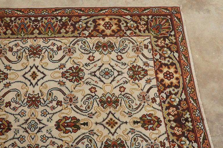 Midcentury Turkish Floral Thracian Kilim For Sale 1