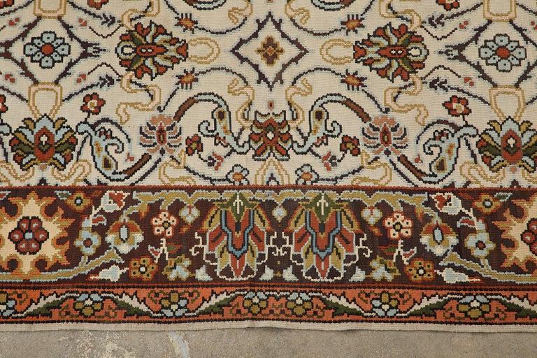 Midcentury Turkish Floral Thracian Kilim For Sale 2
