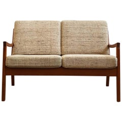Mid Century Two-Seat Teak Sofa, Senator Series, Ole Wanscher for France and Son