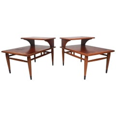 Midcentury Two-Tier End Tables by Lane, a Pair