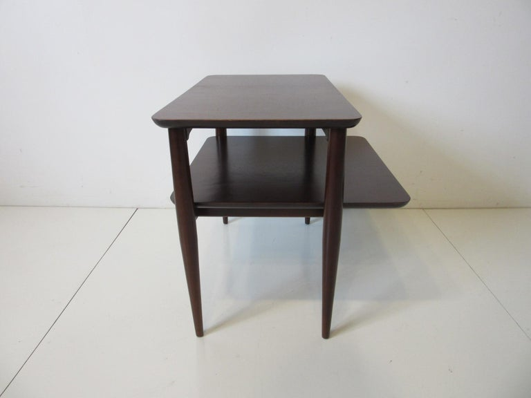 Mid-Century Modern Midcentury Two-Tiered Side Table For Sale