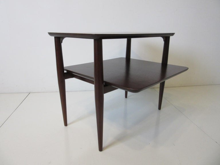 American Midcentury Two-Tiered Side Table For Sale