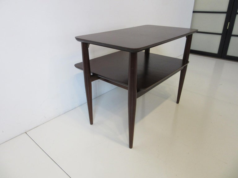 20th Century Midcentury Two-Tiered Side Table For Sale