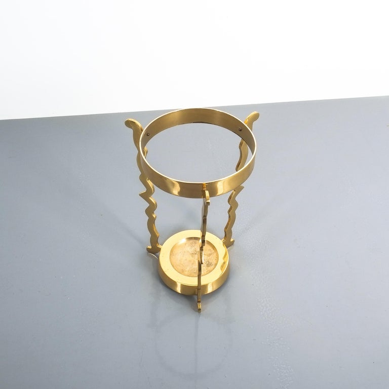 Midcentury Umbrella Stand From Solid Brass For Sale 2