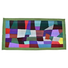 Mid-century unique abstract tapestry handwoven by the artist Daniel de Liniere