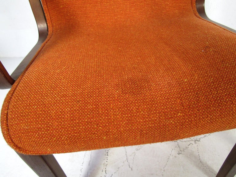 Midcentury Upholstered Dining Chairs after Knoll, Set of 4 For Sale 4