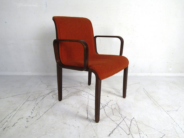 Mid-Century Modern Midcentury Upholstered Dining Chairs after Knoll, Set of 4 For Sale