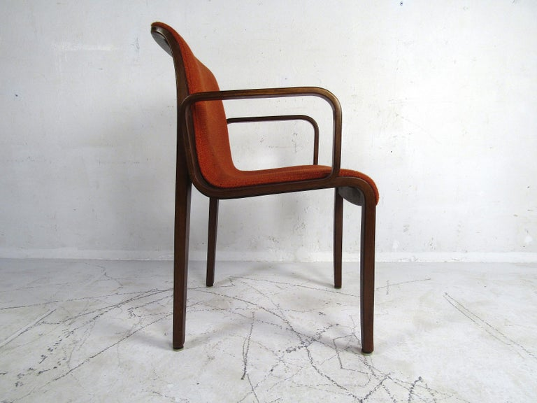Midcentury Upholstered Dining Chairs after Knoll, Set of 4 In Good Condition For Sale In Brooklyn, NY