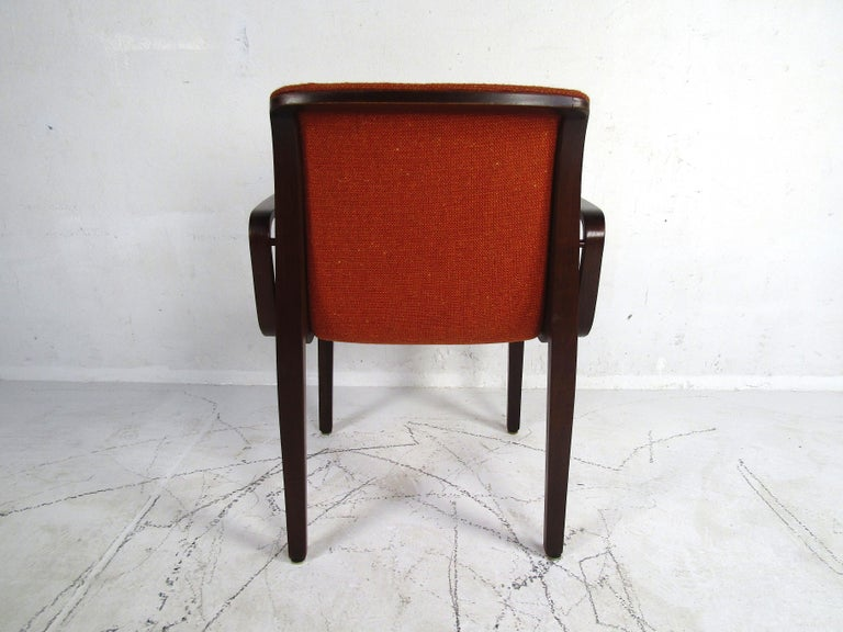 20th Century Midcentury Upholstered Dining Chairs after Knoll, Set of 4 For Sale