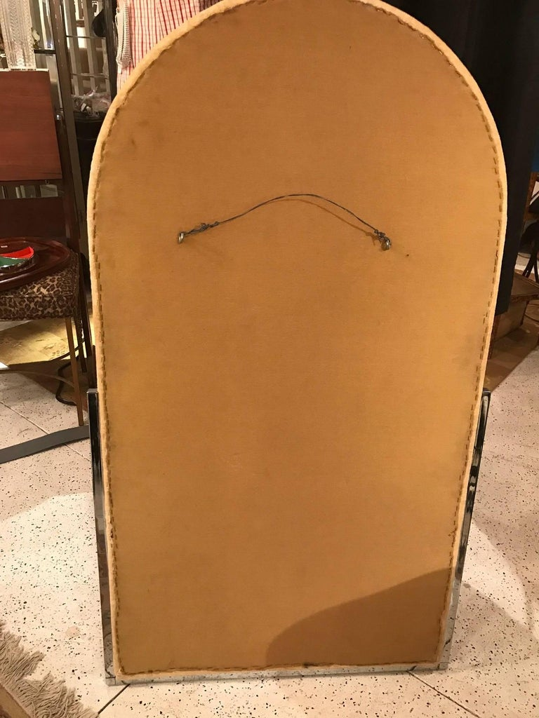 20th Century Midcentury Upholstered Mirror For Sale