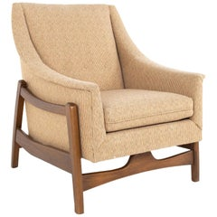 Mid Century Upholstered Stationary Rocking Chair