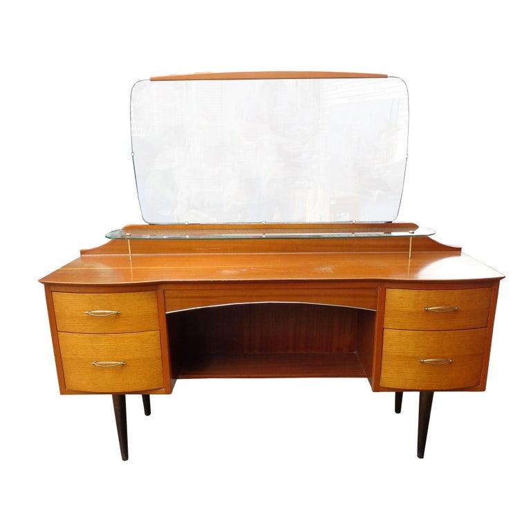 Mid-Century Modern Mid Century Vanity Dresser with Mirror For Sale