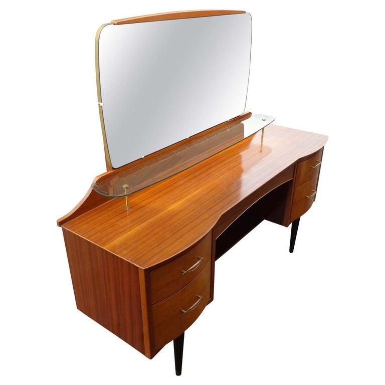 Mid Century Vanity Dresser with Mirror For Sale