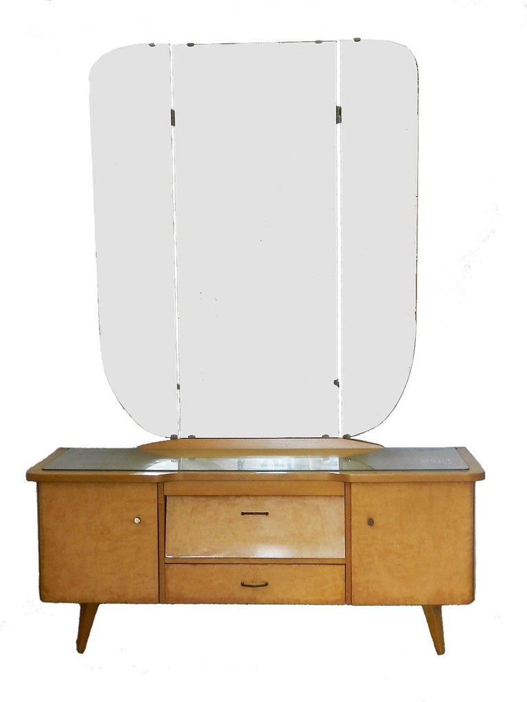 Midcentury dressing table vanity unit German Beider circa 1970 with or without mirror