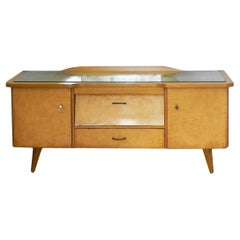 Midcentury Vanity Unit Dressing Table with or without Mirror German, circa 1970