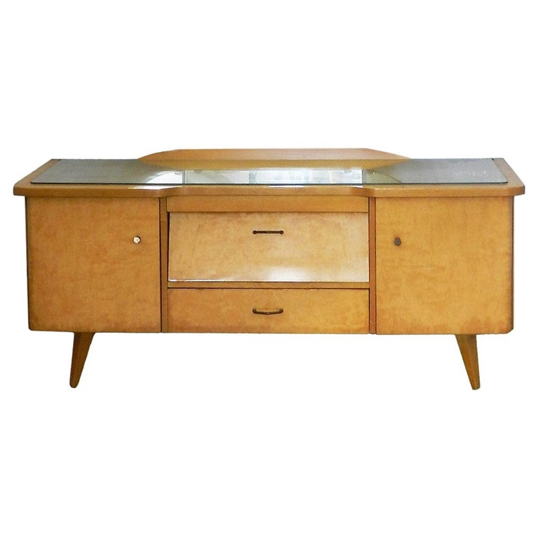 Midcentury Vanity Unit Dressing Table with or without Mirror German, circa 1970 For Sale
