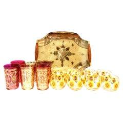 Midcentury Venetian Style 22-Karat Gold Drinks Set of 15 by, Georges Briard