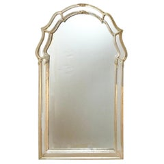 Mid-Century Venetian Style Silver Leaf Mirror, Mfg. for Schultz & Berhle