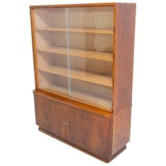 Midcentury Vintage Bookcase in Walnut, 1960s, Czechoslovakia