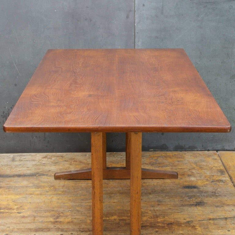 Danish Midcentury Vintage Borge Mogensen FDB Oak, Beech and Teak Dining Work Table For Sale