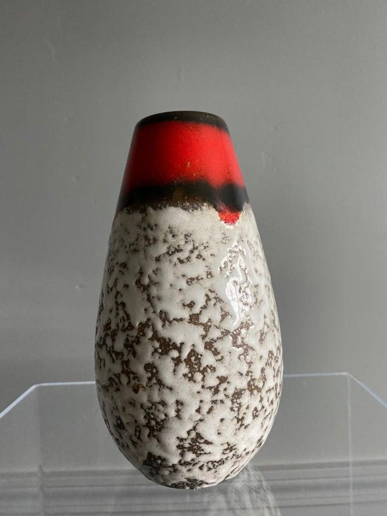Midcentury Vintage Fat Lava Vase by Scheurich Keramik For Sale 3