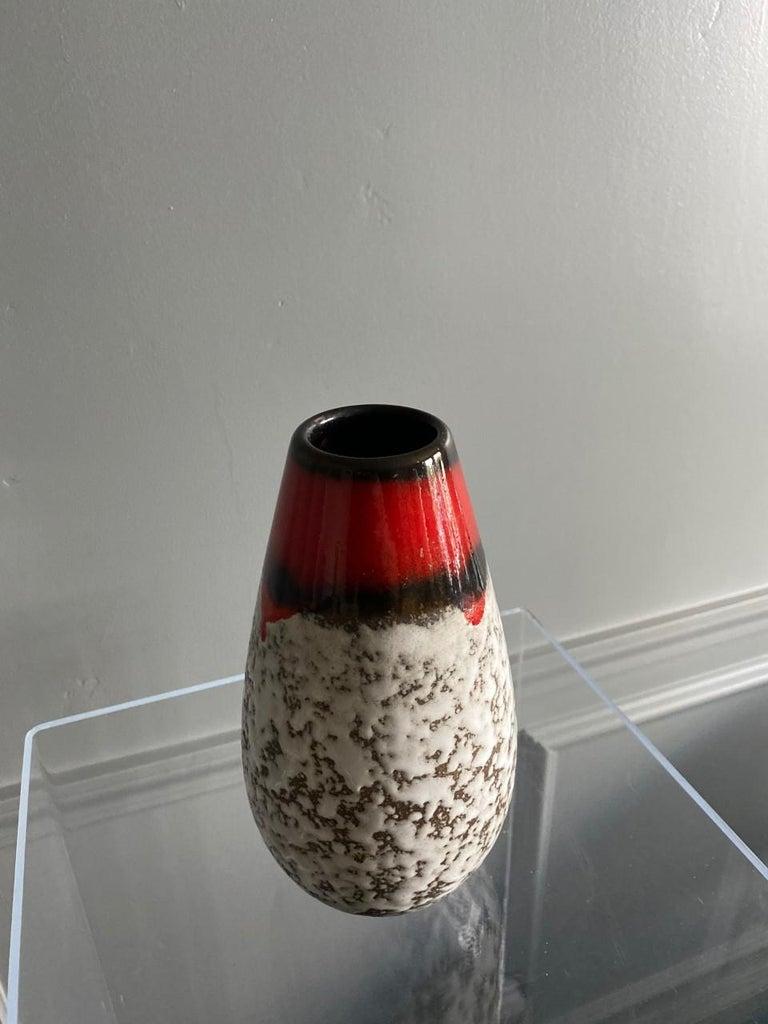 Midcentury Vintage Fat Lava Vase by Scheurich Keramik For Sale 4