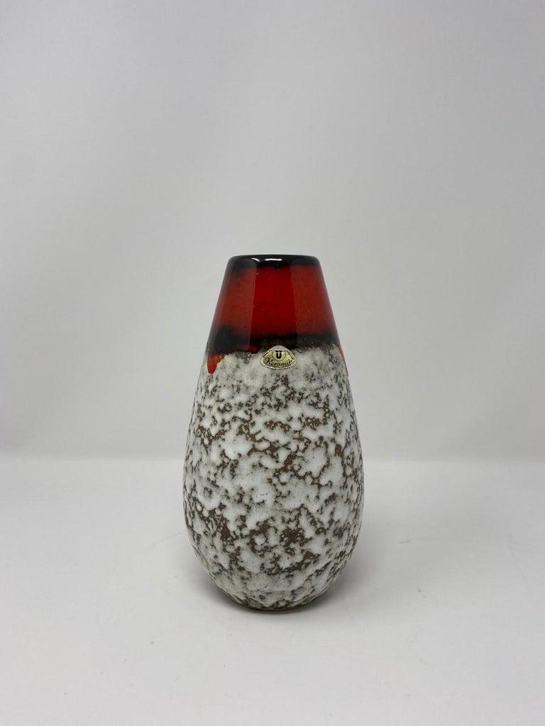Midcentury Vintage Fat Lava Vase by Scheurich Keramik For Sale 5