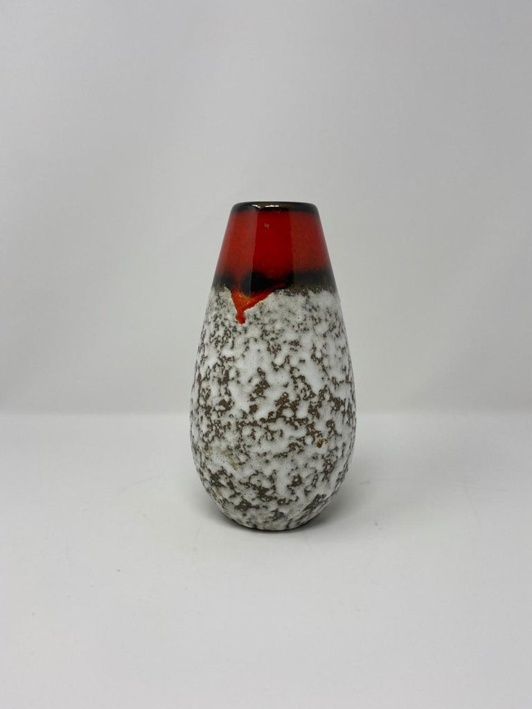 Midcentury Vintage Fat Lava Vase by Scheurich Keramik For Sale 6