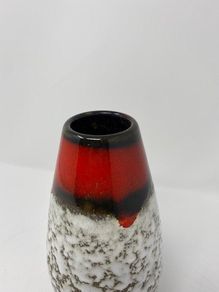 Midcentury Vintage Fat Lava Vase by Scheurich Keramik For Sale 9