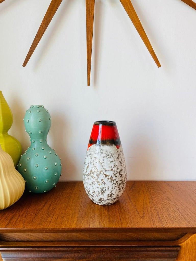 Mid-Century Modern Midcentury Vintage Fat Lava Vase by Scheurich Keramik For Sale